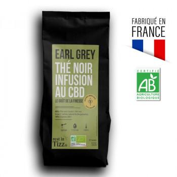 Thé Noir Bio Infusion au CBD Earl Grey by Tizz
